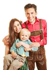 Familie in Bayern mit Kleinkind