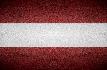closeup Screen Austria flag concept on PVC leather for backgroun