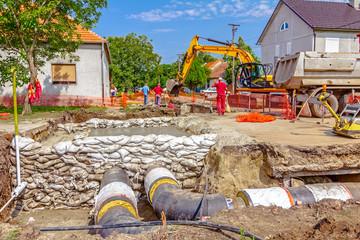 New pipeline in neighborhood