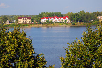 The Volga river panorama in Yaroslavl, Russia.