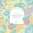 Vintage Greeting Card with Wildflowers