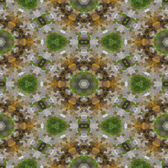 Image glass mosaic generated texture