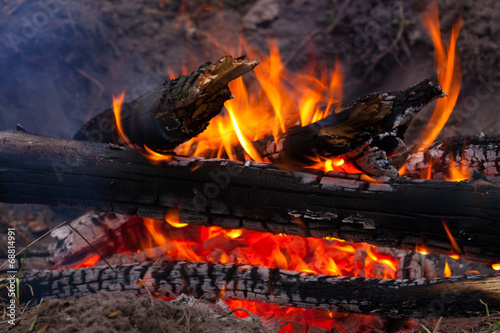 canvas print picture burning wods
