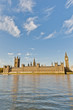 canvas print picture - Houses of Parliament at London, England