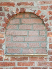 portal in brick wall