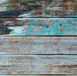 Square azure and brown wood plank wall texture background