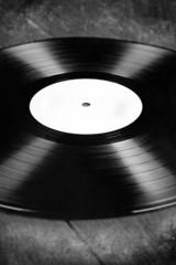 Vinyl LP auf Holzboden, Retro, Vintage, Textur
