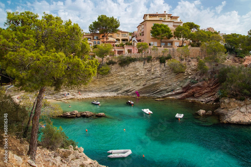 canvas print picture Bucht in Cala Fornells