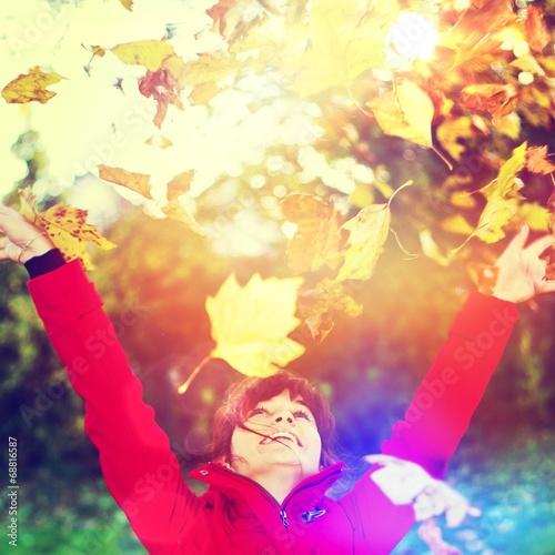 canvas print picture Herbstspaß