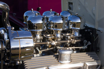 Chrom Motor Tuning Oldtimer Vintage