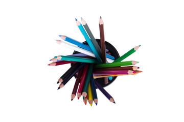 Colored Pencils in Pencil Box