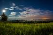 canvas print picture - Bodensee im Mondlicht
