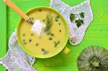 Zucchini cream soup.