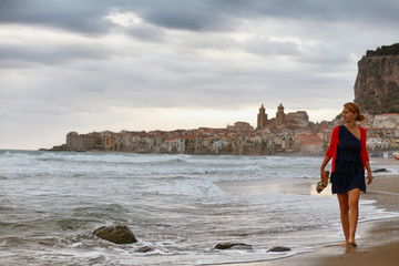 Girl in Cefalu, Sicily