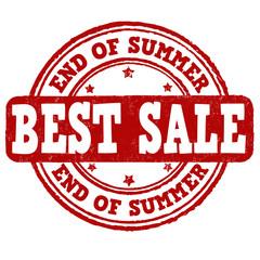 End of summer sale stamp
