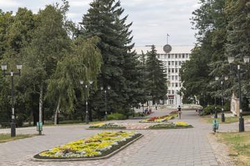 Square near the city administration building of Pyatigorsk, Russ