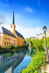 Abbey de Neumunster on Alzette river, Luxembourg