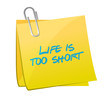 life is too short post message illustration design