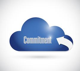 commitment cloud message illustration design