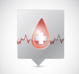 blood lifeline message bubble illustration design