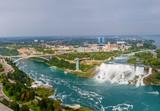 Niagara Falls view from Skylon Tower. Canada