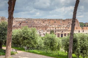 Rome : Colisée depuis le Palatino