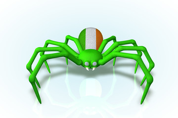 Iris, The Ireland Flag Pole Spider