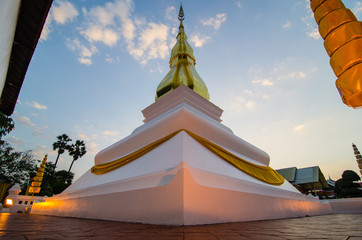 """Golden pagoda """"Phrathat Kham Kaen"""" Khon Kaen, Thailand."""