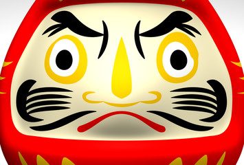 Face Of Lucky Daruma Doll