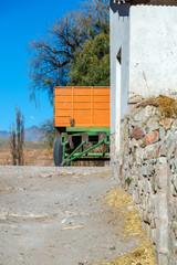 Orange and Green Wagon