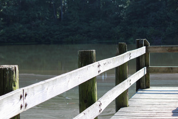 Wooden Pier at Pond