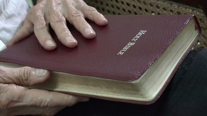 Hispanic Woman Daily Christian Devotional, Reading Bible