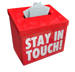 Stay in Touch Box Letters Messages Notes Communication