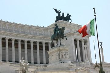 ヴィットリオエマヌエーレ二世記念堂、正面