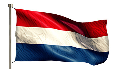 Netherland National Flag Isolated 3D White Background