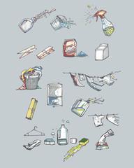 Washing drawings