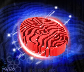 Digital illustration of fingerprint