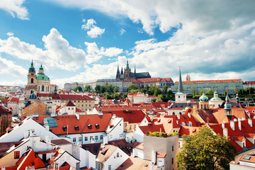 Beautiful view to Prague