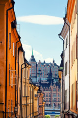 Street in Old Town in Stockholm