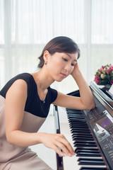 Pensive pianist