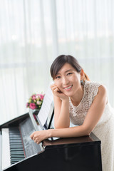 Korean teacher of piano