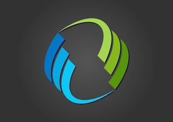 circular,logo,sphere,element,geometry,wings,air,water,wind