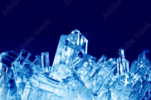 canvas print picture Crystals macro