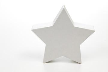 Weisser Stern Geschenkkarton auf weißem Hintergrund