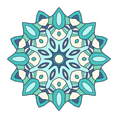 Circular decorative ornament, arabic pattern