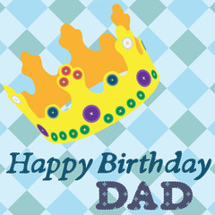 Greeting card. Happy Birthday dad