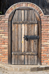 Door in ukrainian house in Pirogovo, Kiev