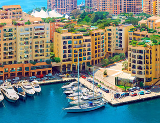 Luxury yachts in harbour of Monaco, Cote d'Azur