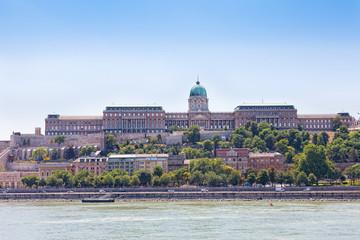 Budapest, view of Budaysky hills and royal palace