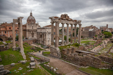 Rome : vue du Forum Romain